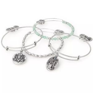 NEW Alex & Ani Peace Petals Lotus bracelets set